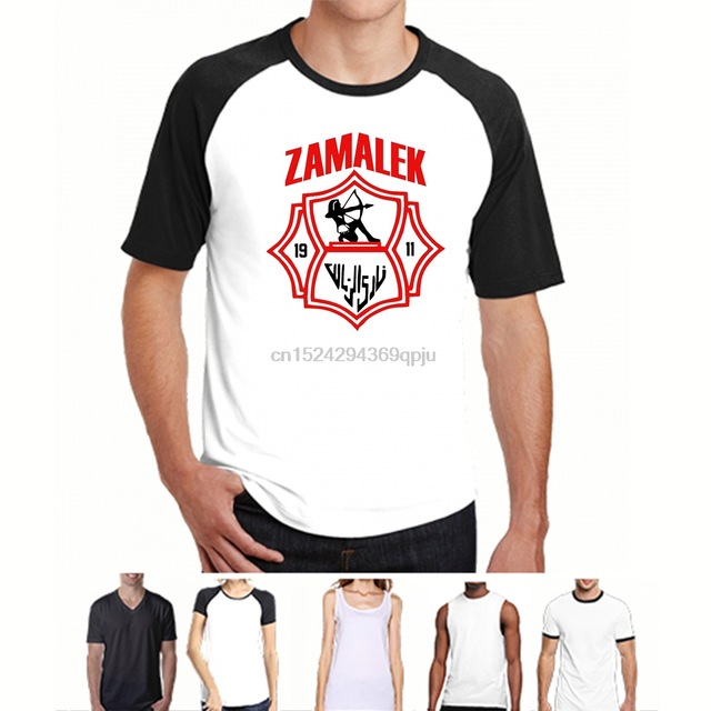 Zamalek Sporting Club Of Egypt Footballer Soccerite T Shirt Tee Unisex New Handmade Mens T Shirts Fashion