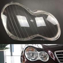 Capa do farol para mercedes benz w203 c180 c200 c230 c260 c280 2001 ~ 2008 substituição da lente do farol do carro escudo automático