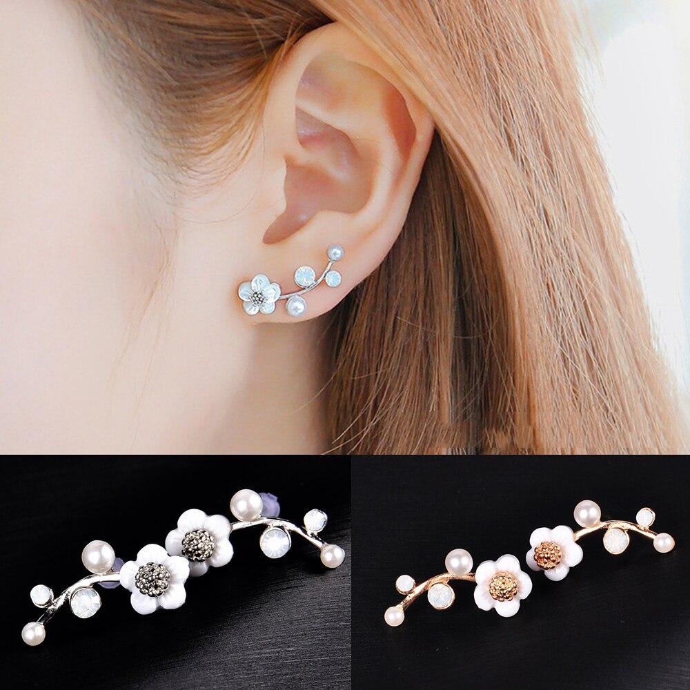 9Pairs//Set Elegant Women Crystal Rhinestone Ear Stud Earrings Vintage Jewelry H7