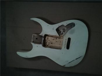 Afanti muzyka DIY gitara zestaw DIY gitara elektryczna ciała (MW-3-573) tanie i dobre opinie none not sure Nauka w domu Do profesjonalnych wykonań Beginner Unisex CN (pochodzenie) Drewno z Brazylii Electric guitar