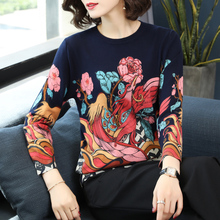 Womens Fashion print 2019 Spring Winter New Knitted sweaters Phoenix high quality pullover Around the Round neck sweater