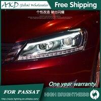 Headlights For VW Passat B7 2012 2016 Passat US DRL Day Running Lights Head Lamp LED Bi Xenon Bulb Fog Lights Car Accessories