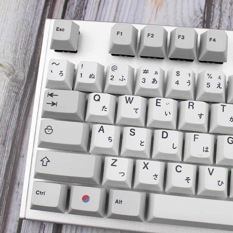 ミニキーボード色素サブキーキャップ花崗岩色メカニカルキーボード用キーチェリー日本ルート黒フォント Pbt キーキャップ Teclado