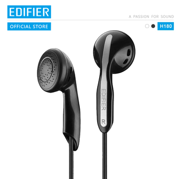 EDIFIER H180 Comfortable fit Affordable high-quality classic earphone Connect to a variety of devices black & white available