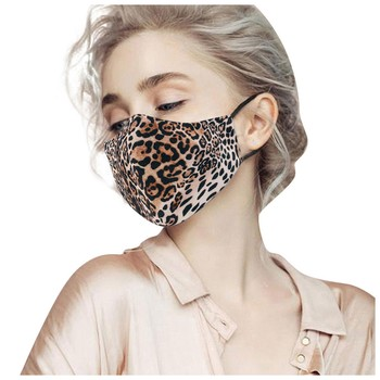 Leopard Tiger Printed Adults Mask Breathable Washable Cotton Mouth Mask Reusable Adjustable Face Mask Mascarilla Reutilizable image