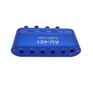Image 2 - 4 WAY stereofoniczny sygnał Audio mikser pokładzie jazdy słuchawki wzmacniacza mocy mieszania pokładzie jedno wyjście 4 sposób wejście