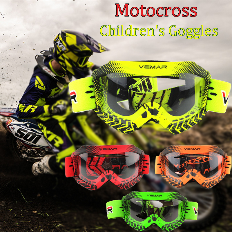 100percent Brand New Kids Motorcycle Off Riding Goggles Youth Motocross Helmets Goggles Children Racing MTB Glasses Motocross Goggles