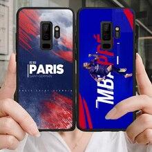 Yinuoda Phone Case For PSG FC Mbappe Galaxy J2 RIME J2Pro J4plus J6(2016) Black Soft TPU Case For PSG FC A6 A7 A8 A9 Note 4 5 все цены