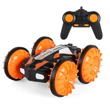 LH-C013 2.4G Off Road Racing Climbing Truck Amphibious RC Stunt Car Waterproof 4WD Toy Remote Control 360' Rotation LED Light(China)