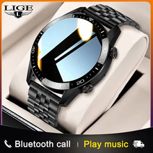 LIGE 2021 New Fashion Smartwatch Bluetooth Call Sport Men's Watch Heart Rate Monitoring Music Control Luxury Smart Watch For Men