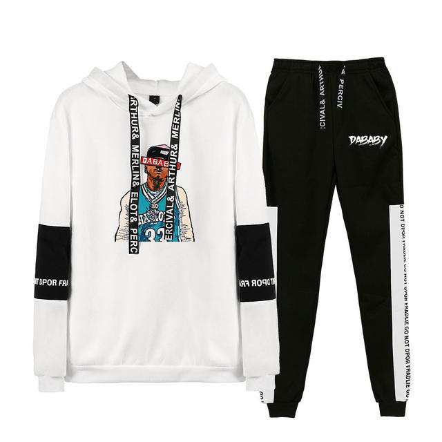 SET DABABY THEMED HOODIE + TROUSERS (24 VARIAN)