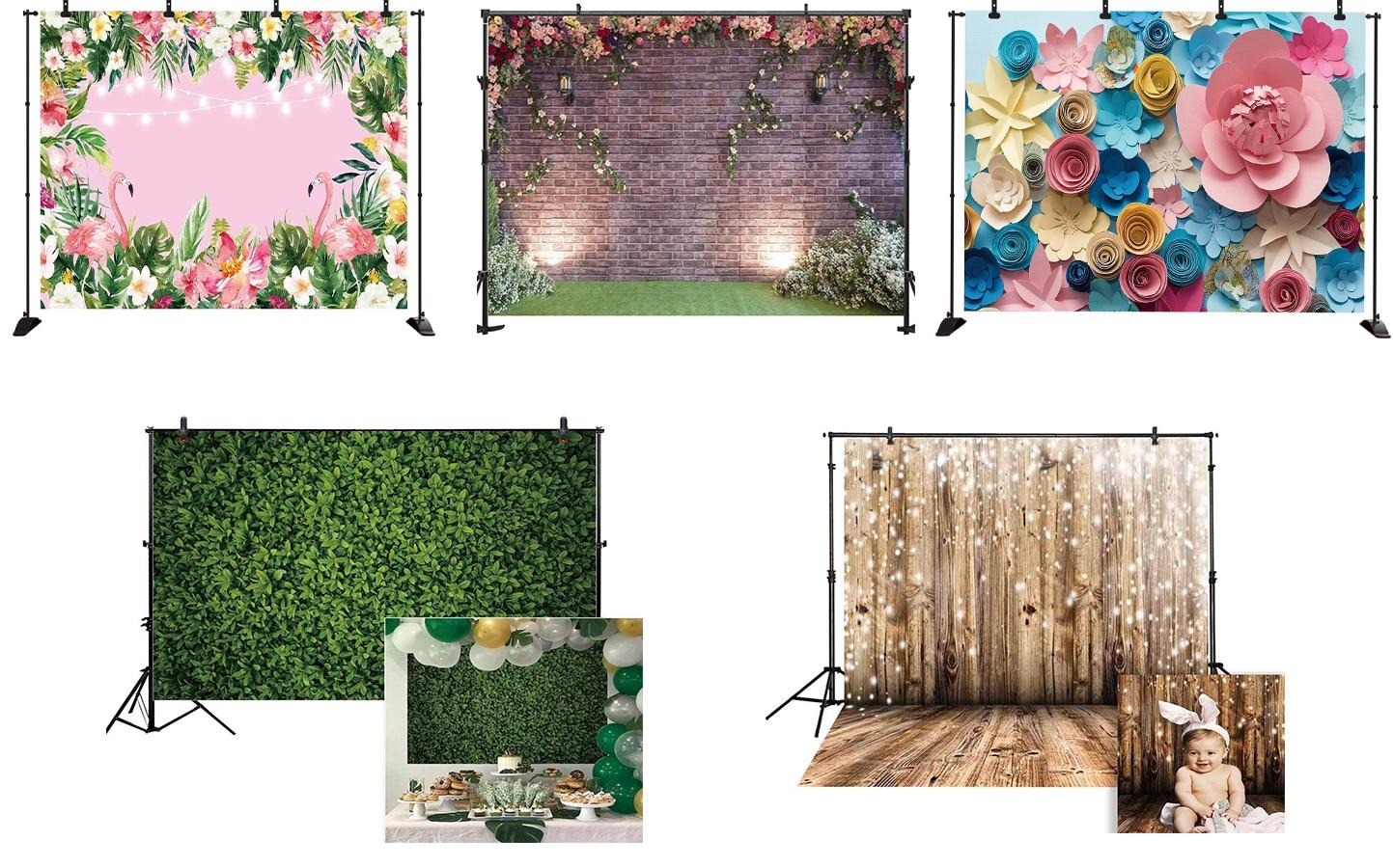 backdrops para fotografia tropical flores folhas abacaxi flamingo criança