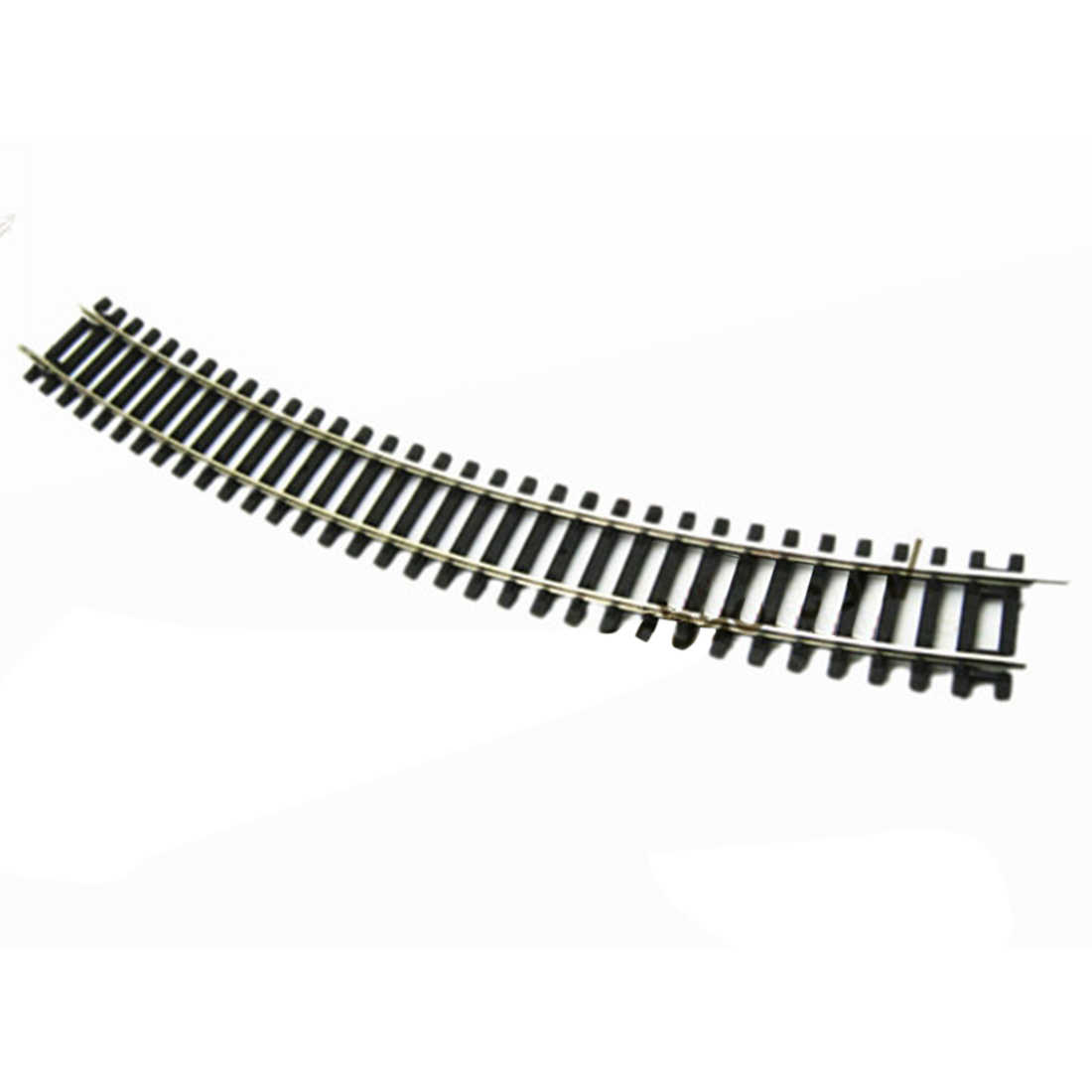 1:87 DIY HO Scale R3 30°Curved Track Track for Train Model - Black