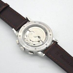 Image 5 - 42 Moon Phase watch men Week calendar year month automatic mechanical часы мужские механические montre homme 316L Stainless stee