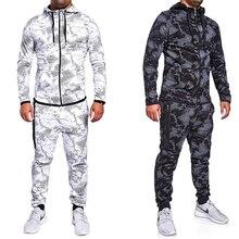 New 2019 3D Print Tracksuit men thermal underwear Men 2 pieces set Zipper hoodie+Pants Sporting Suit 3xl Malechandal hombre