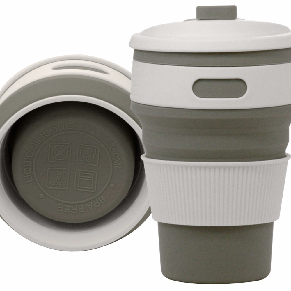 Coffee Mugs Travel Collapsible Silicone Cup Folding Water Cups BPA FREE Food Grade Drinking Ware Mug Tea Coffee Cups 4