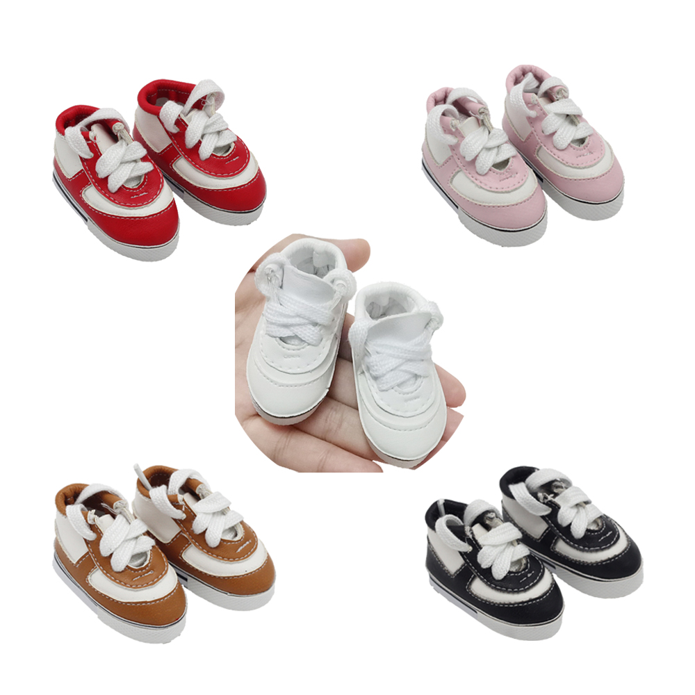 14.5-inch Girls doll shoes fashionable 5 color sports shoes PU American newborn shoe Baby toys For milo BJD EXO dolls image