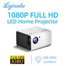 LEJIADA nowy projektor T10 LED 1980*1080P HD Android korekcja Keystone przenośny zestaw kina domowego odtwarzacz wideo Proyector tanie tanio Korekcja ręczna CN (pochodzenie) Rohs Mini 4 3 16 9 Focus Projektor 3lcd 1920x1080 dpi 1400 lumenów 50-200inches Led light