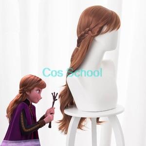 Image 4 - Cos School Frozen 2 Cosplay Wigs Elsa Anna Kristoff Men and Women Wigs Snow Queen Princess Hair Halloween Wig Accessories