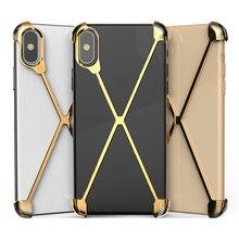 Thermorytic 모델 X 케이스 휴대 전화 로즈 골드 알루미늄 안티 가을 금속 핸드폰 쉘 블랙 없음 프레임 보호 커버