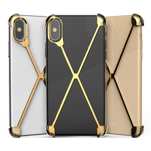 Thermorytic model X case telefon komórkowy różowe złoto aluminium anti fall metalowe muszle telefon czarny bez ramki osłona