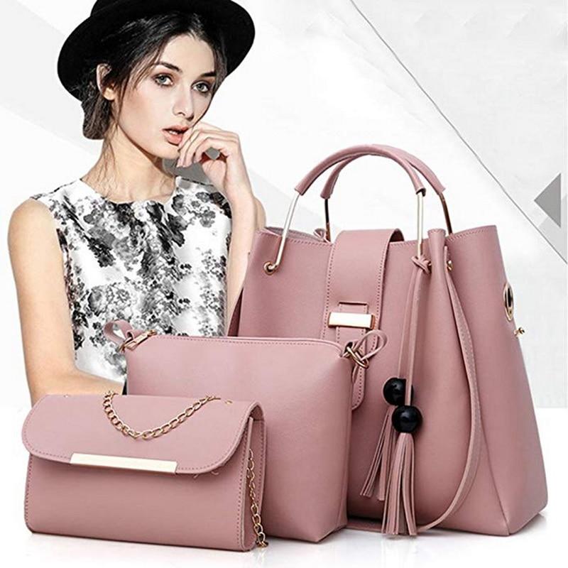 fashion color strap women totes casual PU leather tassel handbag Fashion ladies shoulder messenger crossbody bag
