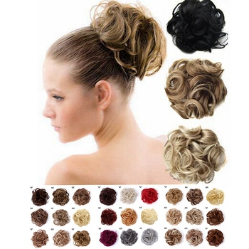 1 Pcs Messy Wavy Curly Hair Bun Scrunchies Extensions Hair Rope Elastic Band Updo Hair Donut Chignon Fake Ponytail Hair pieces