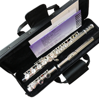 Top Japan flute YF 471 16 Holes Silver Plated Transverse Flauta obturator C Key with E key music instrument Dizi