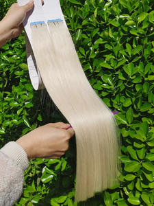 Isheeny Human-Hair-Tape-Extensions Skin-Weft Blonde Remy-Hair Brown Natural European