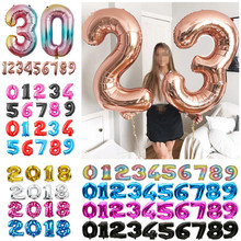 Hot selling 32 inches aluminum gold silver balloons birthday party decoration kids wedding figures wholesale toy
