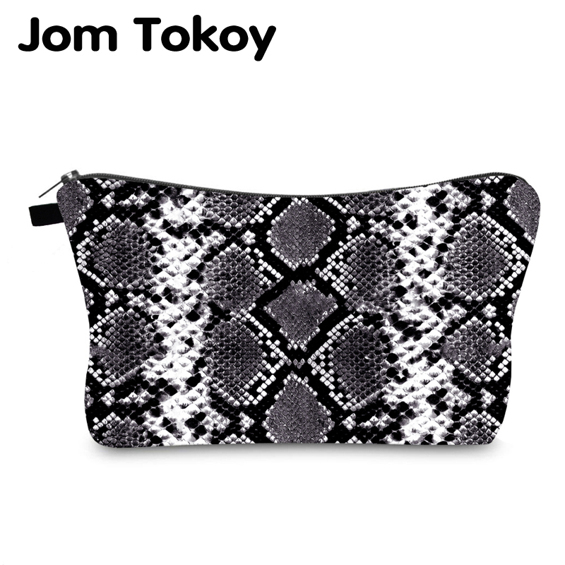 Jom Tokoy Cosmetic Bag Printing Serpentine Personalised Makeup Bags Organizer Bag Women Beauty Bag HZB995