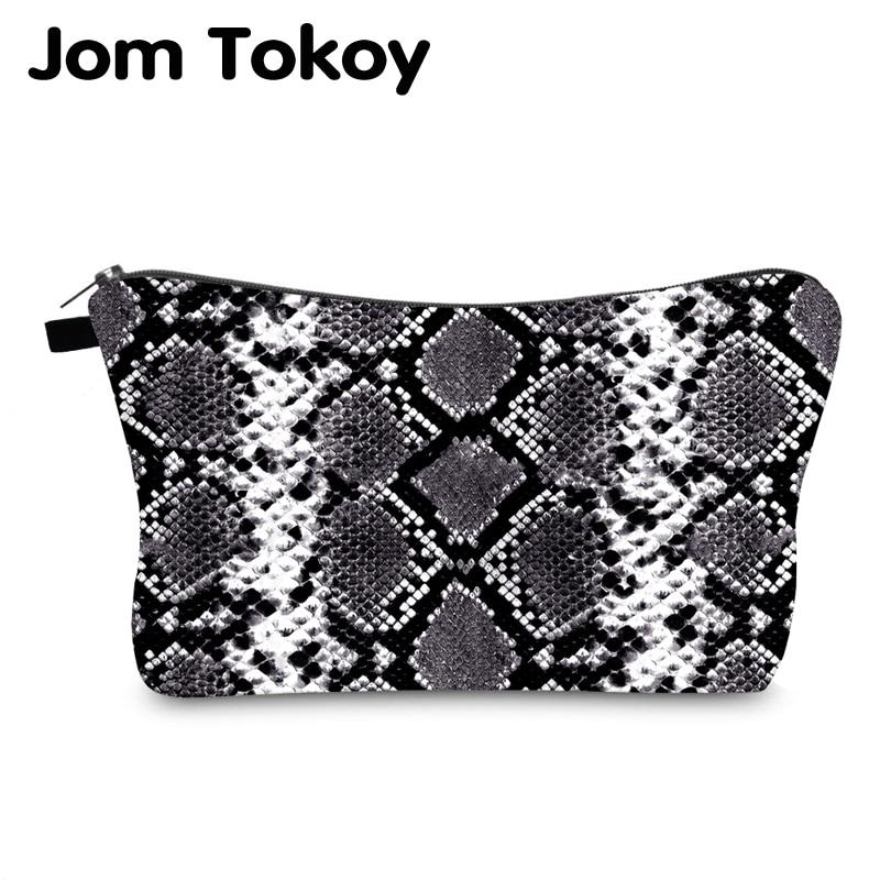 Jom Tokoy Cosmetic Bag Printing Serpentine Personalised Makeup Bags Organizer Bag Women Beauty Bag HZB995