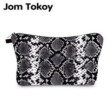 Jom Tokoy Cosmetic Bag Printing Serpentine Personalised Makeup Bags Organizer Women Beauty HZB995