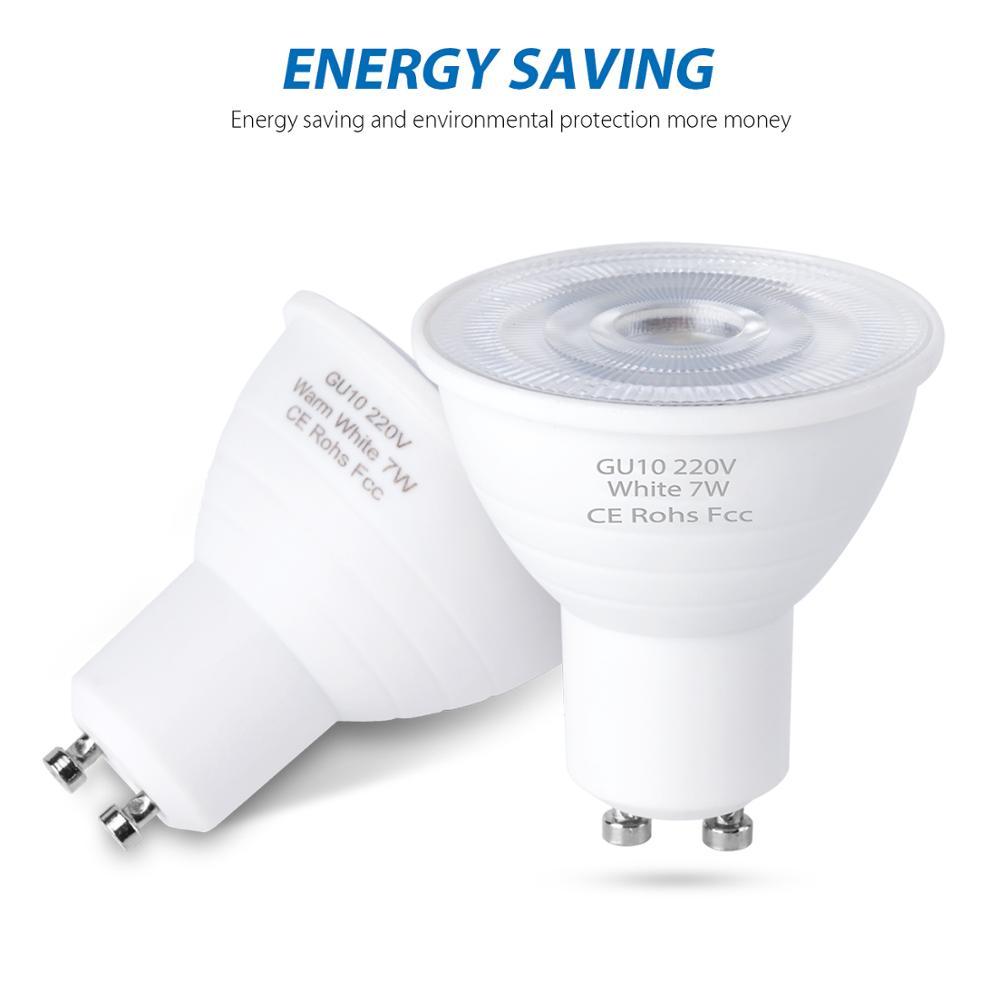 LED Bulb GU10 LED Light 220V SMD 2835 MR16 Spotlight Bombilla LED 220V 5W 7W Bulb Warm White Cold White Lampada LED Lamp