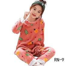 Детские пижамные комплекты г., модное одеяло для девочек, детская Милая Домашняя одежда с героями мультфильмов, зимняя одежда для сна