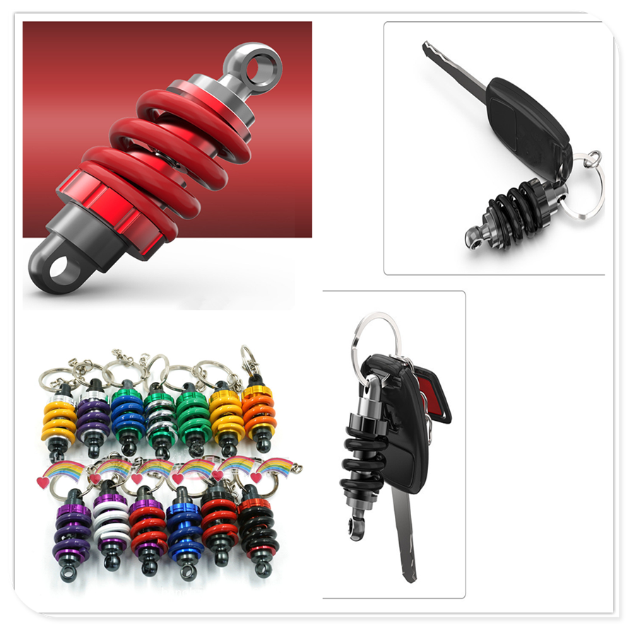 Motorcycle new red black bike Keychain Key Ring Chain Keyring metal for BMW R1200RT SE R1200S R1200ST S1000R S1000R S1000RR image