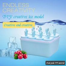 T #8 cavidade silicone sorvete molde cubo de gelo bandeja picolé barril diy molde
