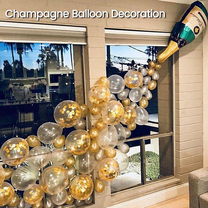 Gran oferta 2020, copa para botella de champán, película de aluminio de cristal, globo, traje para fiesta de cóctel, Decoración de cumpleaños, celebración de una victoria|Globos y accesorios|   - AliExpress