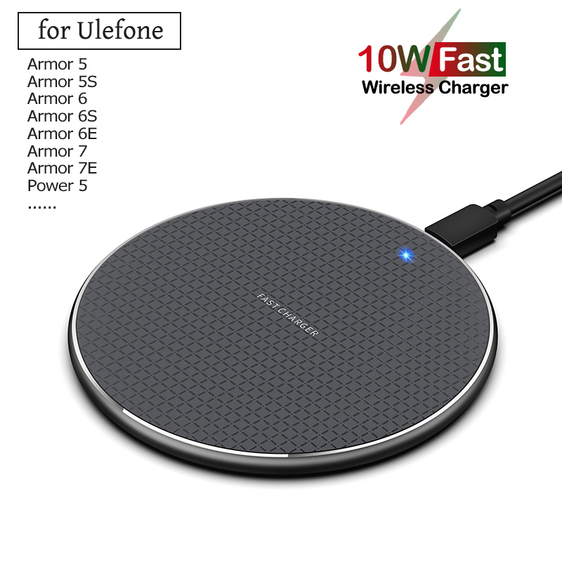 Qi 10W Fast Wireless Charging for Ulefone Armor 5 5S 6 6S 6E 7 7E X Power 5 5S Phone Wireless Charger