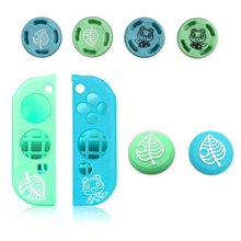 Bear Leaf Thumb Stick Grip Cap Animal Crossing Joystick Cover Skin For Nintendo Switch NS Lite Joycon Controller Silicone Case