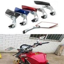 цена на Universal Motorcycle Aluminum alloy moto Mirror Scooter E-Bike Rearview Mirrors Convex Mirror 8mm 10mm