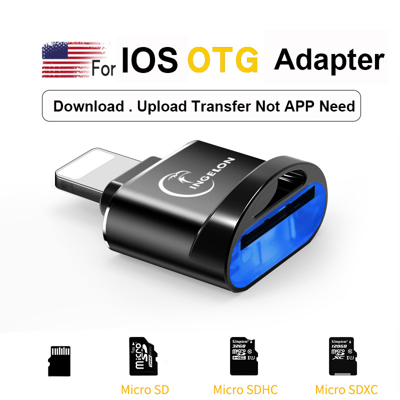 OTG Converter for Lightning to micro SD Adapter 3  0 For iPhone 7 8 6s Plus 11 Max X XS XR kit Converter for iOS 13 Memory Card