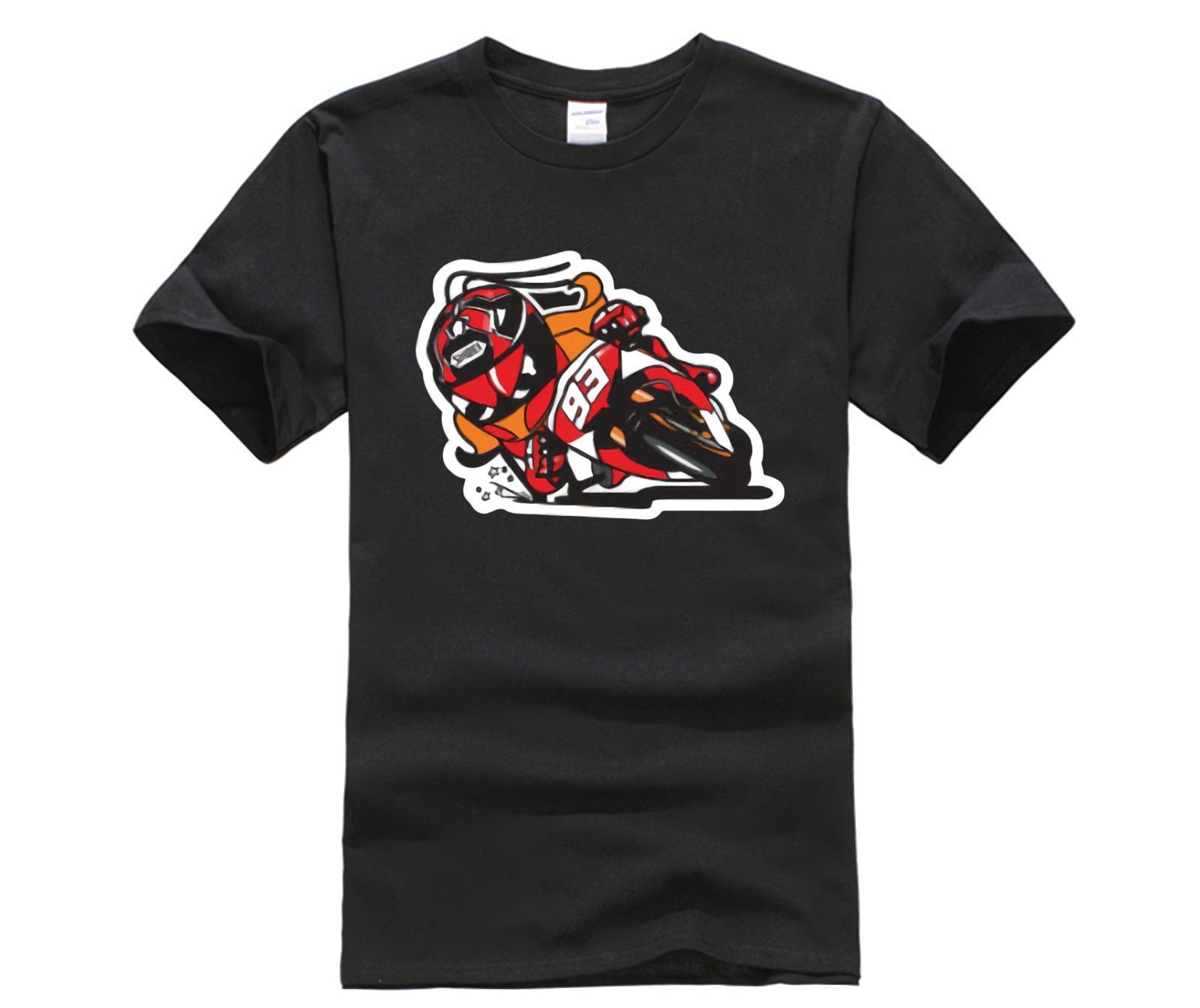 Marquez Rijders Streetwear Motorcycle Bike Racing Sport Heren Tee T-shirt