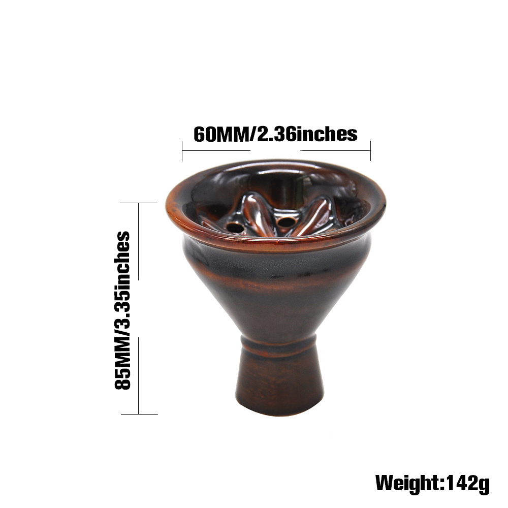"1 X /""Amy Deluxe/""Clay 13-Holes Phunnel Bowl Hookah Head Shisha Bowl Ferris Bowl"