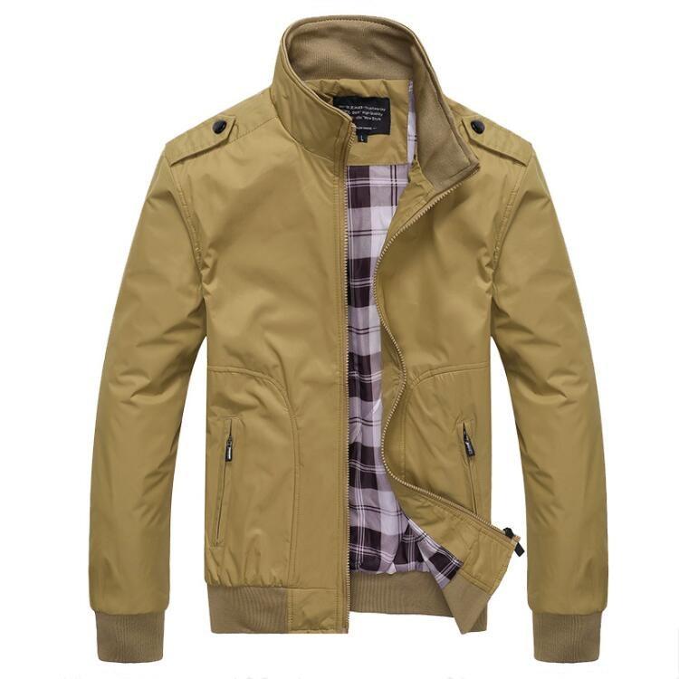 Men Spring Jackets Mens Causl Coats Plus Size M- 4XL Jacket Men Fashion Casual Loose Mens Jacket Sportswear Bomber Jacket