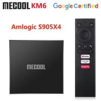 Mecool KM6 Klassische Amlogic S905X4 Google Zertifiziert TV Box Android 10,0 2GB 16GB 2,4G 5G Wifi 100M LAN Bluetooth 4,2 Set Top Box