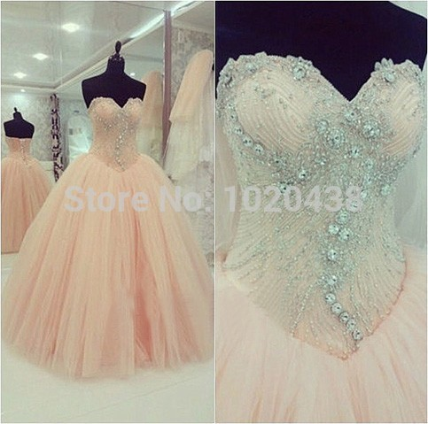 Actual Photo Quinceanera Ball Gown 2018 Sweetheart Crystal Beaded Long Party Prom Vestido De Festa Mother Of The Bride Dresses