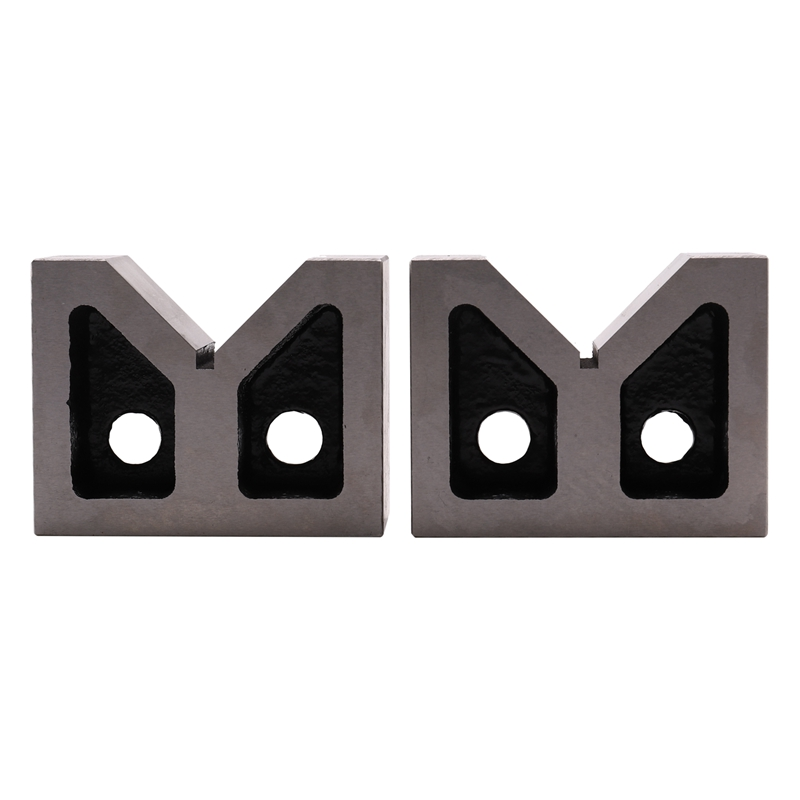 2pcs//Set HT200 Precise 35x35x30mm 90°Machinist V Block Ground Pair with Clamp