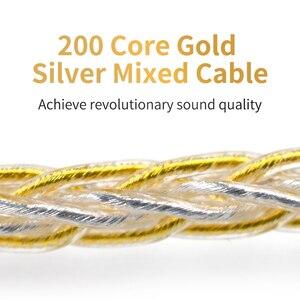 Image 3 - Kz ouro prata misturada chapeado atualização cabo fones de ouvido fio para original zsn zs10 pro as10 as06 zst es4 zsn pro ba10 es3 zs10 ca4