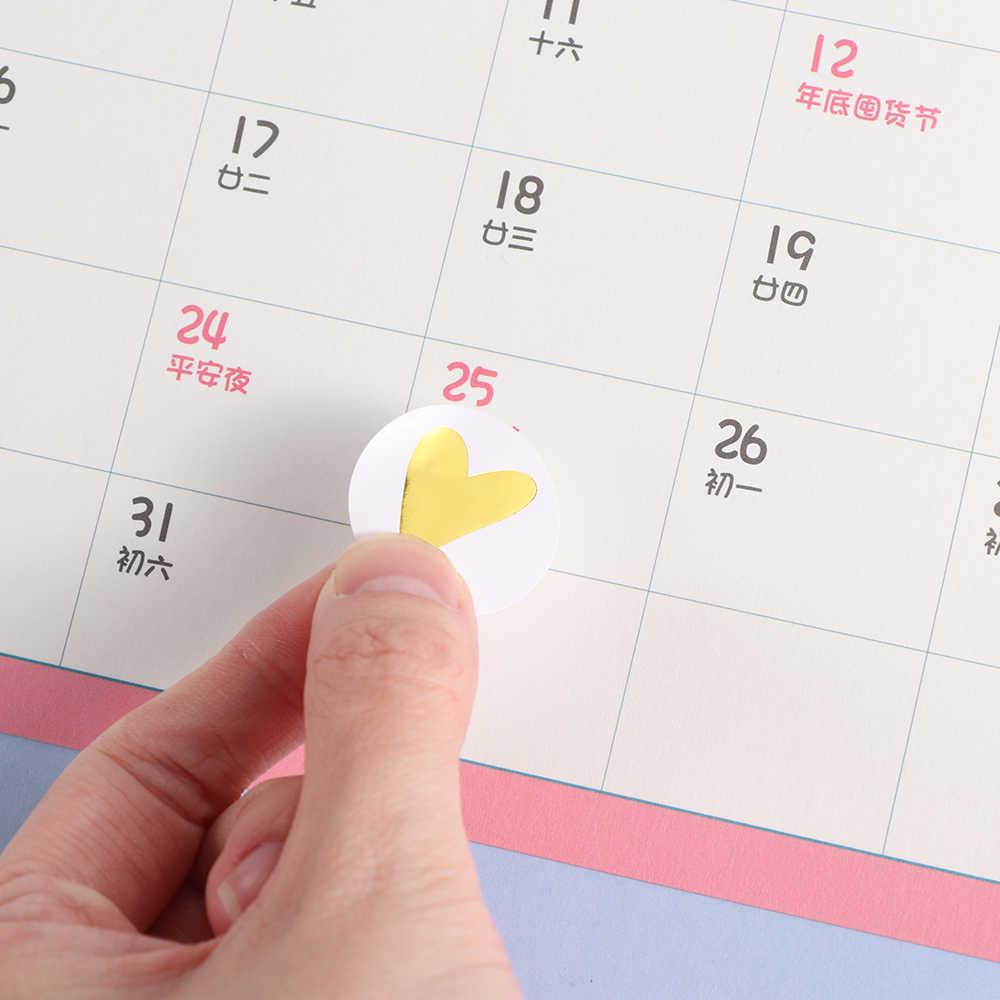 Hecho a mano 80/160 Uds redondo pegatina bronce corazón Etiqueta de sello de regalo adhesivo Kraft sello pegatina para hornear pegatinas divertido trabajo DIY